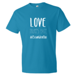 Love Trumps Hate Mens - Caribbean Blue