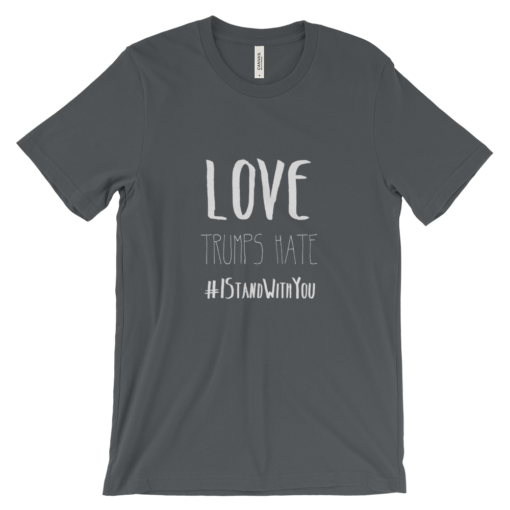 Love Trumps Hate Unisex - Asphalt