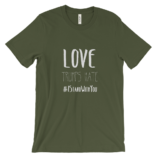 Love Trumps Hate Unisex - Olive
