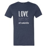 Love Trumps Hate Mens - Heather Blue