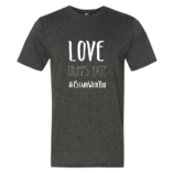 Love Trumps Hate Mens - Heather Dk Gray